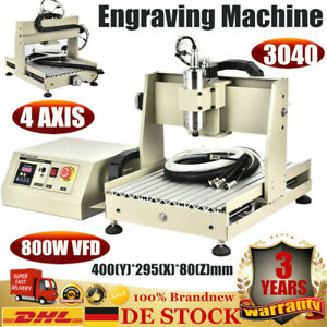 4 Axis 3040 Cnc Router Engraver Machine Milling Engraving Wooden 3d Cutter 800w