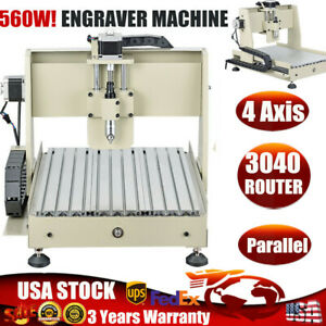 4 Axis 3040 Cnc Router Engraver Machine Cutting Carving 560w Vfd Ball Screws Usa