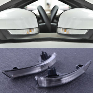For Ford Focus 2008 2016 Pair Wing Mirror Indicator Lens Turn Signal Light Trim