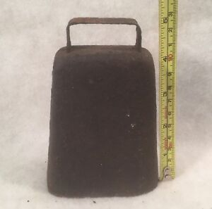 Vintage Antique Primitive Hand Forged 4 1 2 Metal Cow Bell