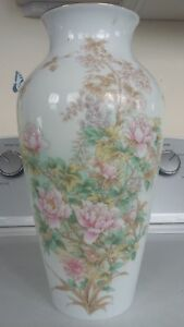 Antique Japanese Porcelain Marked 12 Jardiniere Plante Vase Brush Pot Urn