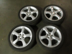 Jdm Oem Subaru Legacy 04 09 17x7 55 5x100 Factory 5 Spoke Silver Rims Wheels