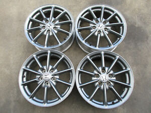 Jdm Oem Factory Honda Enkei 17x7 55 5x114 3 Rims Charcoal Grey Wheels Acura