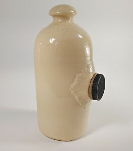 Hot Water Warmer Stoneware Bottle Crock Jar Jug Bed Foot Top Side Bung Vtg
