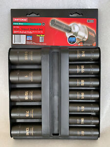 Craftsman made In Usa 12 Piece 1 2 Drive Deep Inch Impact Socket Set 15886