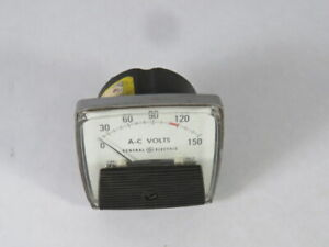 General Electric 250344pzpz Panel A c Volt Meter 0 150vac Used