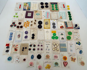 Antique Button Collection 61 Cards Collector S Estate Mixed Lot Sold As Found