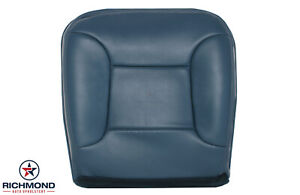 1992 1996 Ford Bronco Xlt W Leather Driver Side Bottom Leather Seat Cover Blue