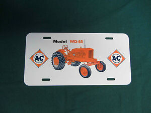 Allis Chalmers Wd45 Wf License Plate