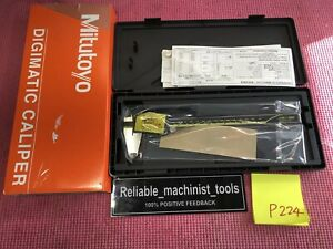 new Mitutoyo Japan Made 8 Inch Absolute Digital Caliper machinist Tool P224