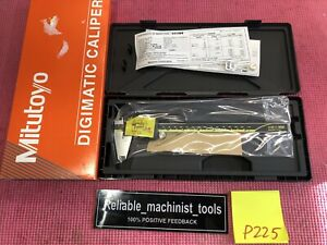 new Mitutoyo Japan Made 8 Inch Absolute Digital Caliper machinist Tool P225