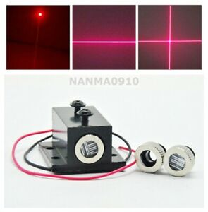 Red Dot line cross Laser Module 10mw 650nm Focus Adjustable Head 3v W Heatsink