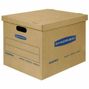 Smoothmove Classic Moving Kit Boxes Tape free Assembly Easy Carry Handles 10 Pk