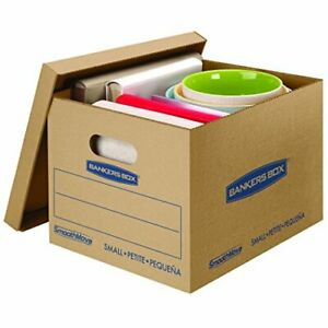 Classic Moving Boxes Tape free Assembly Easy Carry Handles 5 x12 x10 10 Pk