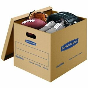 Smoothmove Classic Moving Kit Boxes Tape free Assembly Easy Carry Handles 30 Pk