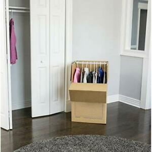 Strong Durable Smooth Move Wardrobe Moving Boxes Short 20 X 20 X 34 3 Pack
