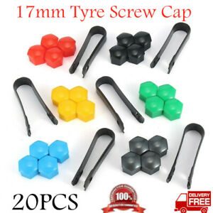 20x 17mm Silicone Wheel Lug Nut Bolt Hub Screw Cover Tyre Protective Cap 6colors
