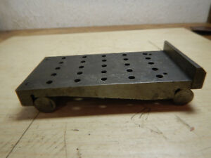 Older Machinist Sine Plate With End Stop Jig Fixture Tooling