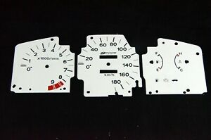 Gauge Faces Overlay Kit Spoon Style For Jdm Honda Civic Eg Ej 92 95