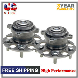 Pair Rear Wheel Hub And Bearing Assembly Left Right Fits 05 10 Honda Odyssey