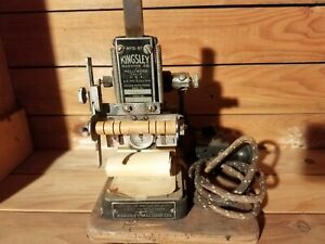 Vintage Kingsley Gold Stamping Machine Hot Foil Hollywood Model A 43 a