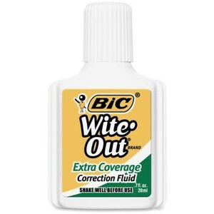 Bic Extra Coverage Wite out Brand Correction Fluid