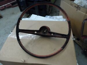 1962 62 Chevy Impala Vintage Steering Wheel Patina Hot Rod Used Red Need Restore