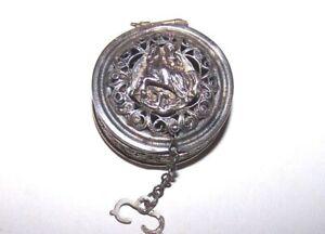 Antique Unmarked Sterling Silver Vinaigrette Locket Box 29mm 8 9grms