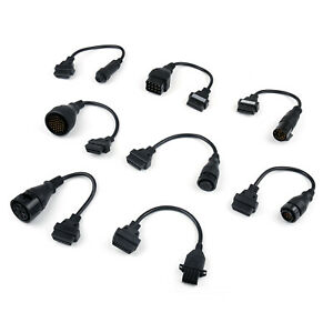 8 X Obd2 Adaptors Truck Cables For Autocom Cdp Pro Diagnostic Interface Scanner