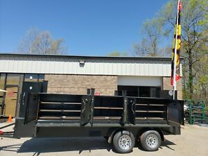 Iron Hog Bbq Barn Door Smoker 48 Inch Grill Trailer Food Truck Business Catering