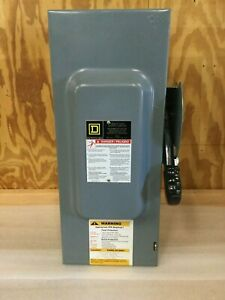 Square D Hu363 100 Amp Heavy Duty Safety Switch 120 Vac Type 1 Disconnect