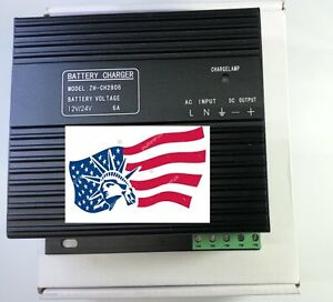 New Generator Intelligent Dual Battery Charger Ch2806 6amp 12 24vdc Autotransfer