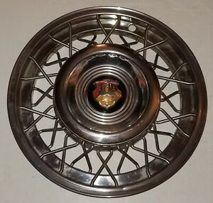 2 1953 1954 Oldsmobile 98 88 Wire Hubcaps Factory Accessory 53 54 Olds