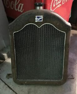 Original Vintage 1924 Buick Honeycomb Radiator Corded Shell W porcelain Badge