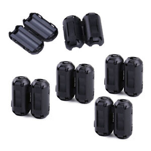 10pcs Snap On 5mm Clip on Noise Ferrite Core Ring Bead Filter Rfi Emi Cable Clip