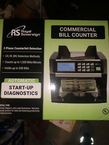 Royal Sovereign Digital Cash Counter Holds Up To 500 Bills