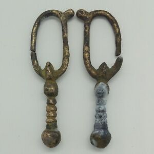 Silver Viking Earrings Early Medieval Period 800 1000ad