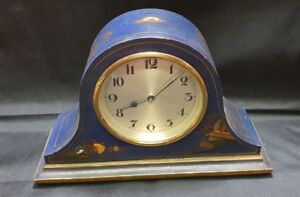 Chinoiserie Style Solid Wooden Mantle Clock