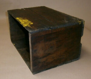 Antique Vintage Wooden Box Crate Pittsburgh Plate Window Glass Wood Shipping Box