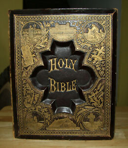 Antique Family Holy Bible Salesman Sampler C1880