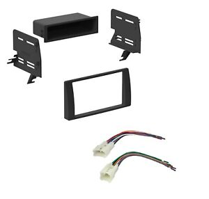 Car Radio Stereo Dash Install Kit With Pocket Harness For 2002 2006 Toyota Camry