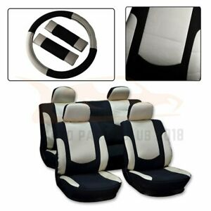 13 Pieces For 2008 2012 Toyota Prius Black Beige Polyester Mesh Car Seat Covers