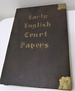 Antique 17th Century Early English Court 1679 1681 Papers Dated Signed Bounded