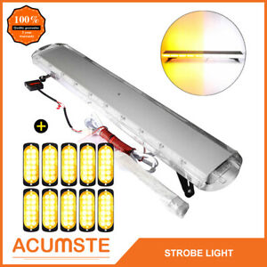 47 Amber white 88 Led Emergency Warning Strobe Light Bar 10pcs 12 Led Lights