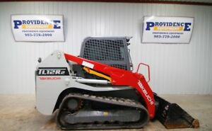 2017 Takeuchi Tl12r2 Cab Track Skid Steer Loader 2 Speed Float Ac heat