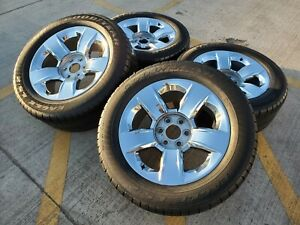 20 Chevy Silverado Ltz Oem Chrome Rims Wheels Tires 5651 2015 2016 2017 2018