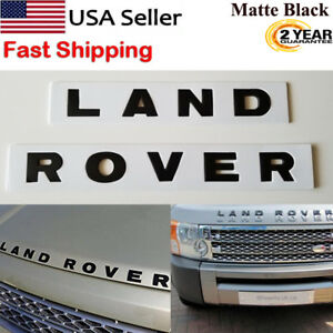Land Rover Black Matte Letters Hood Trunk Tailgate Emblem Badge Nameplate