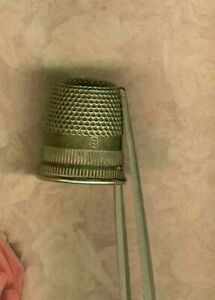 Antique Dutch Silver Thimble With J A S Makers Mark Hallmark