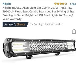 Led Truck Light Bar Triple Row 23in