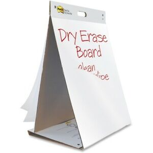 Post it Self stick Tabletop Easel Pads With Dry Erase 20 In X 23 In White
